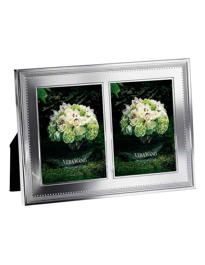 "Vera Wang Grosgrain Double Frame 5""X7"" image 1"