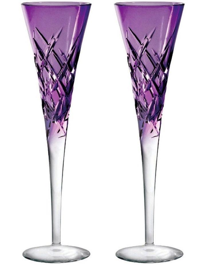 Vera Wang Duchesse Encore Lavender Flute Pair image 1