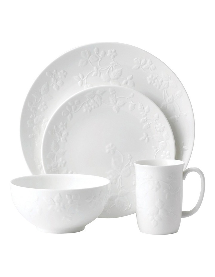 Wild Strawberry White 4 Piece Place Set image 1
