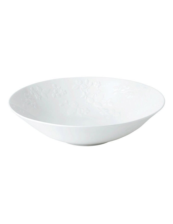 Wild Strawberry White Serving Bowl 28cm image 1