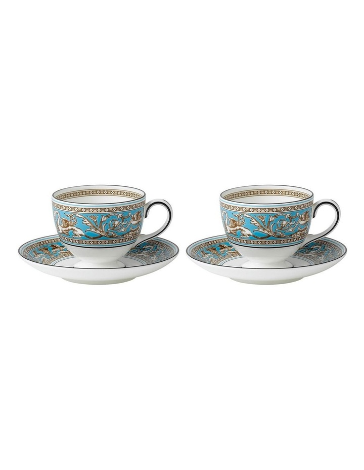 Florentine Turquoise Cup & Saucer Pair image 1