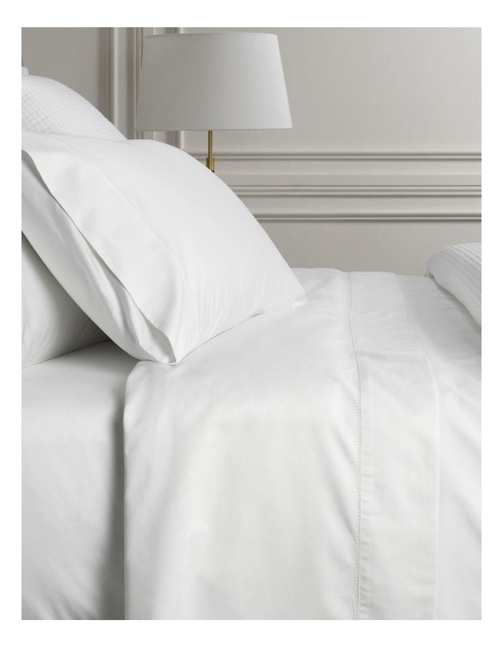 1000TC Hotel Weight Luxury Sheet Set in Snow image 1