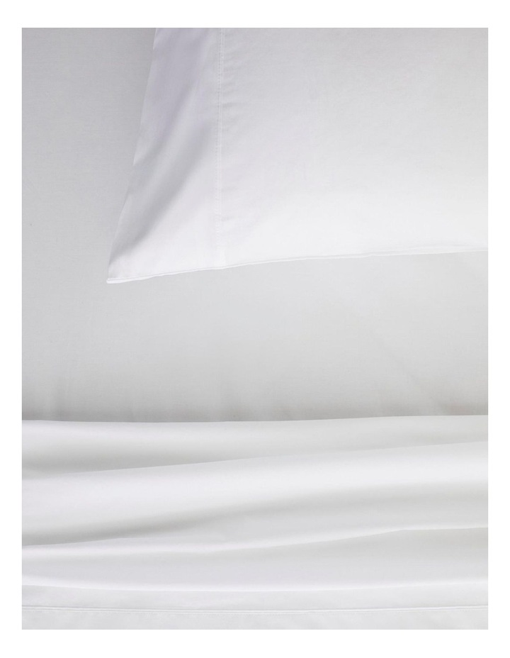 Organic Cotton Percale 300TC Fitted Sheet in Snow image 2
