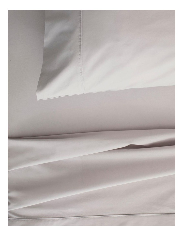 Organic Cotton Percale 300TC Fitted Sheet in Dove image 2