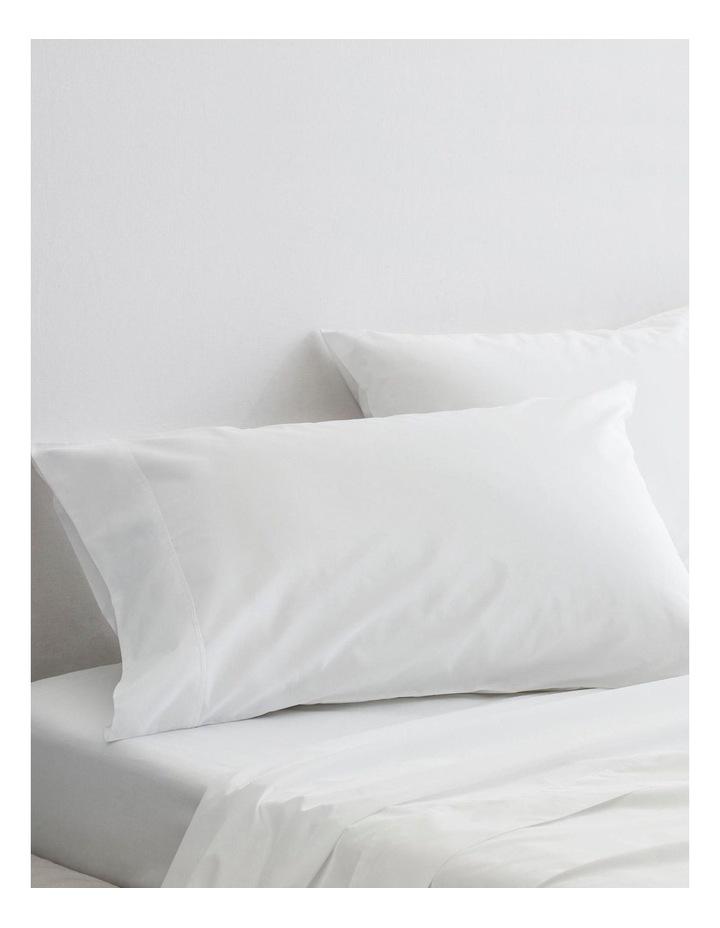 Organic Cotton Percale 300TC Sheet Set in Snow image 3