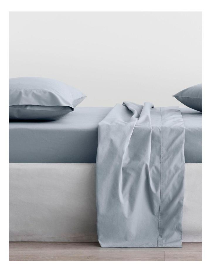 Organic Cotton Percale 300TC Sheet Set in River image 1