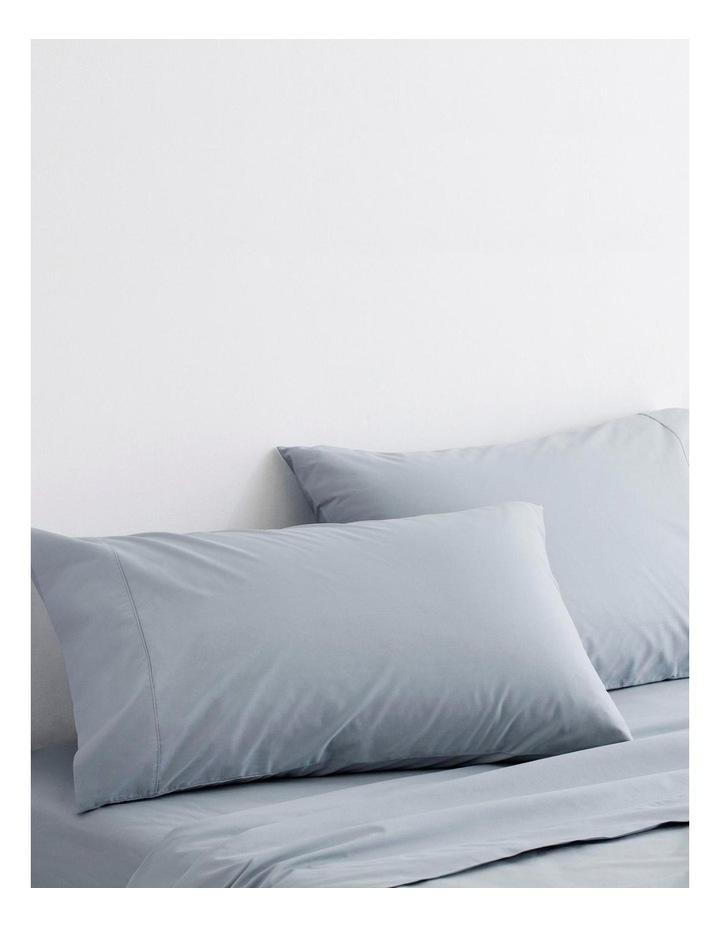 Organic Cotton Percale 300TC Sheet Set in River image 3