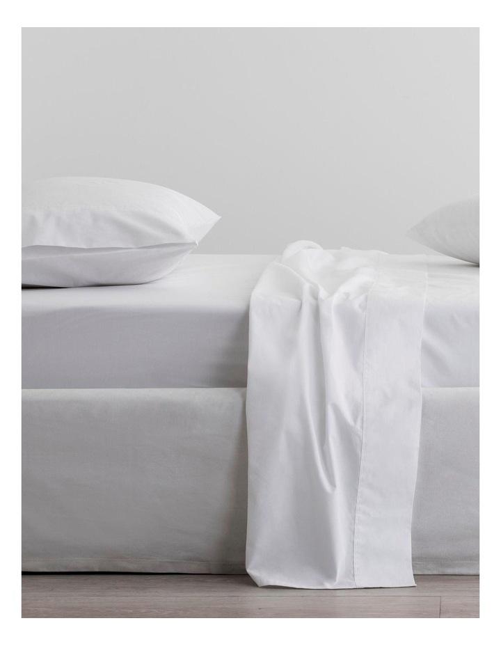 Organic Cotton Percale 300TC Sheet Set in Snow image 1