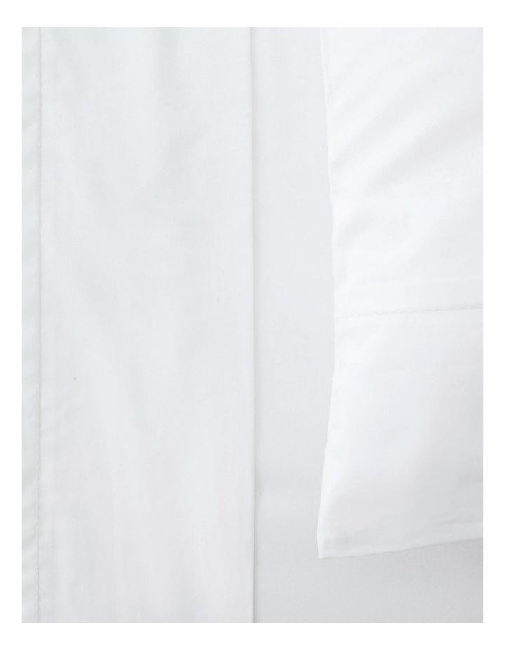 Organic Cotton Sateen 400TC Sheet Set in White image 2