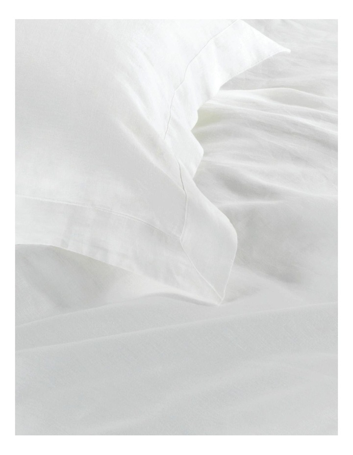 Abbotson Fitted Sheet in White image 2