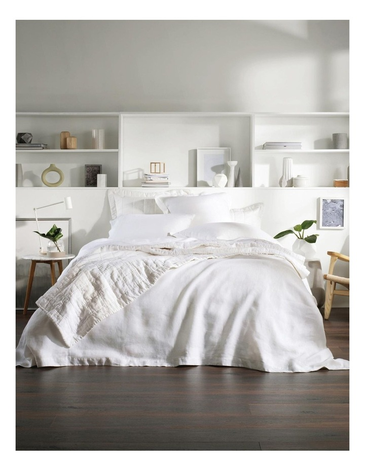 Abbotson Fitted Sheet in White image 3