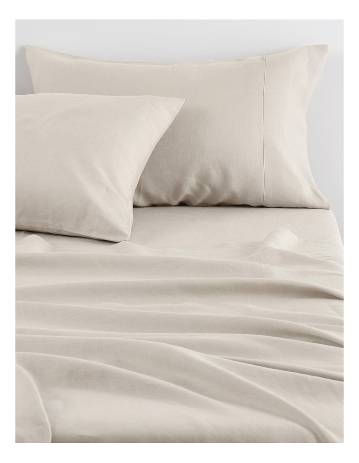 Abbotson Fitted Sheet in Flax image 1