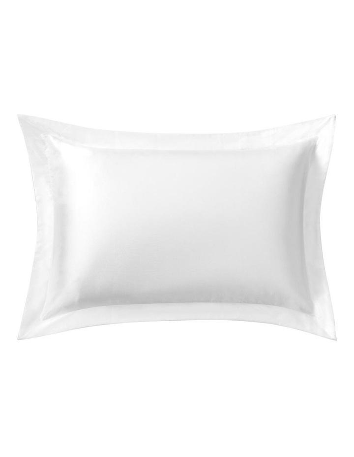 Lanham Silk Tailored Pillowcase in Snow image 1
