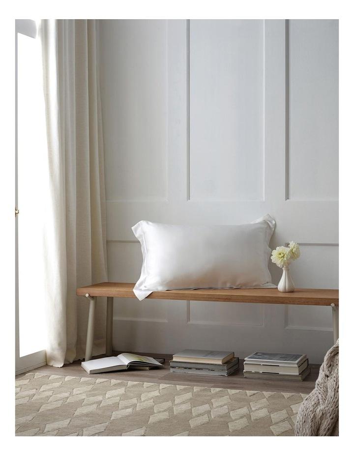Lanham Silk Tailored Pillowcase in Snow image 2
