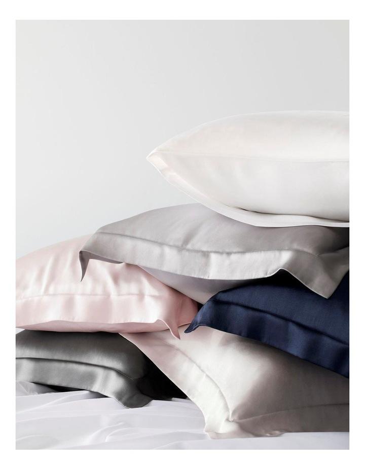 Lanham Silk Tailored Pillowcase in Snow image 3