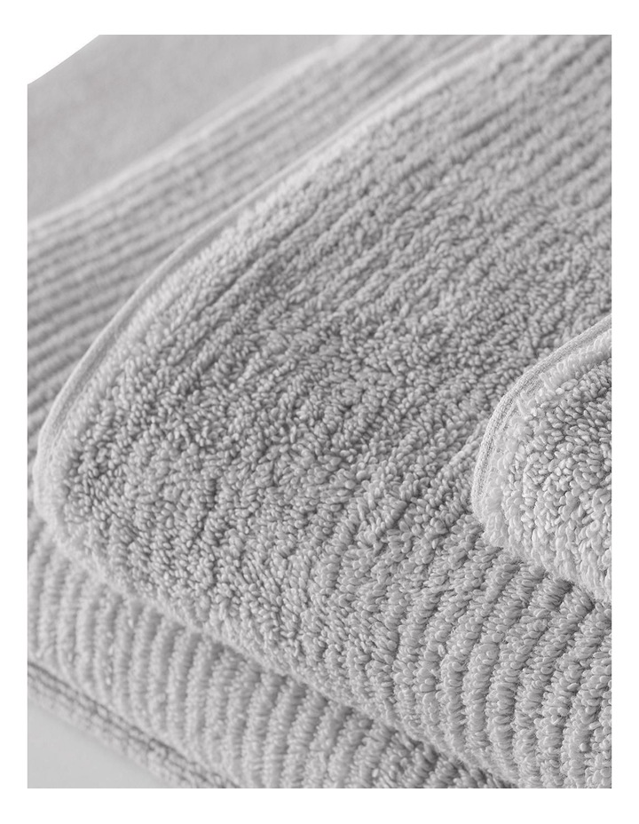 Living Textures Towel Range in Silver image 3