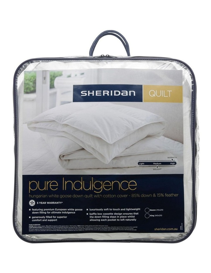 Pure Indulgence 85/15 Hungarian White Goose Down & Feather Quilt image 1