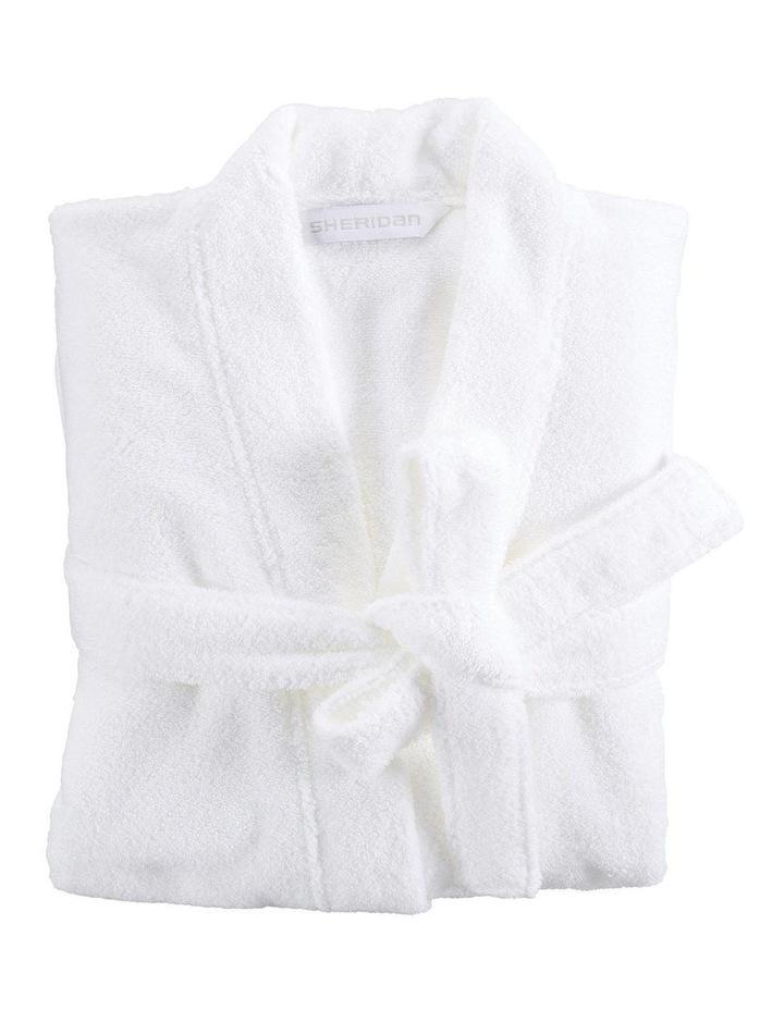 Quick Dry Luxury Bath Robe in White image 1