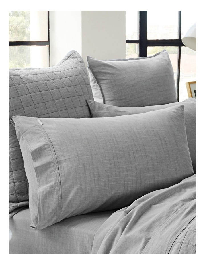 Reilly Bed Linen Range in Fog image 4
