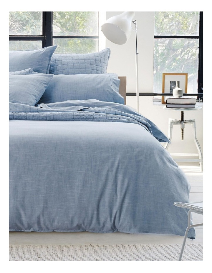 Reilly Quilt Cover Set in Chambray image 1