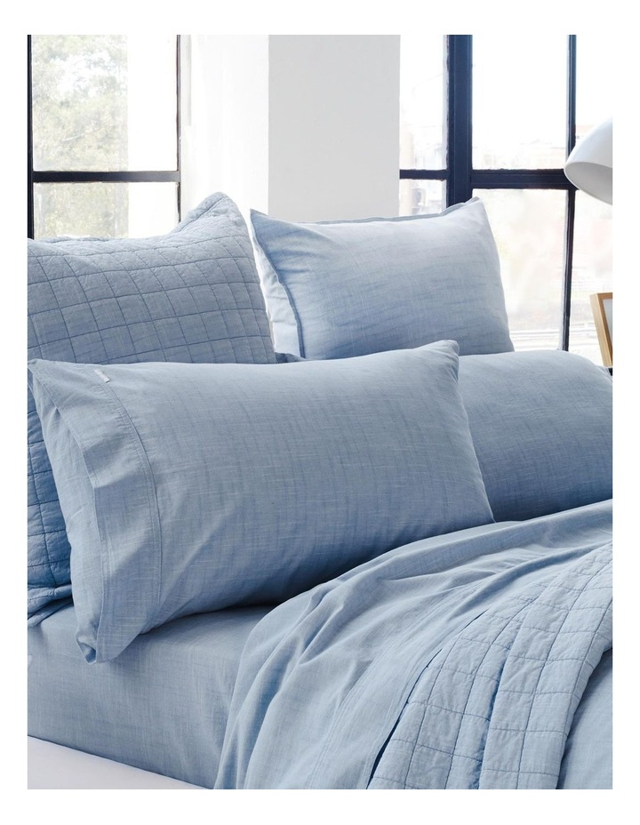 Reilly Quilt Cover Set in Chambray image 3