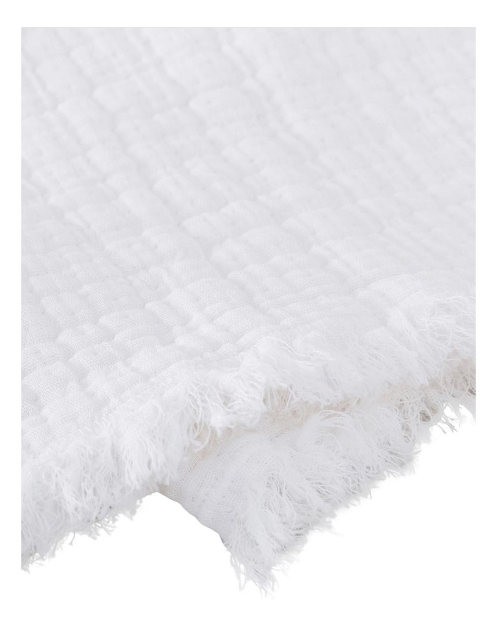 Sandy Bay Throw in White image 3