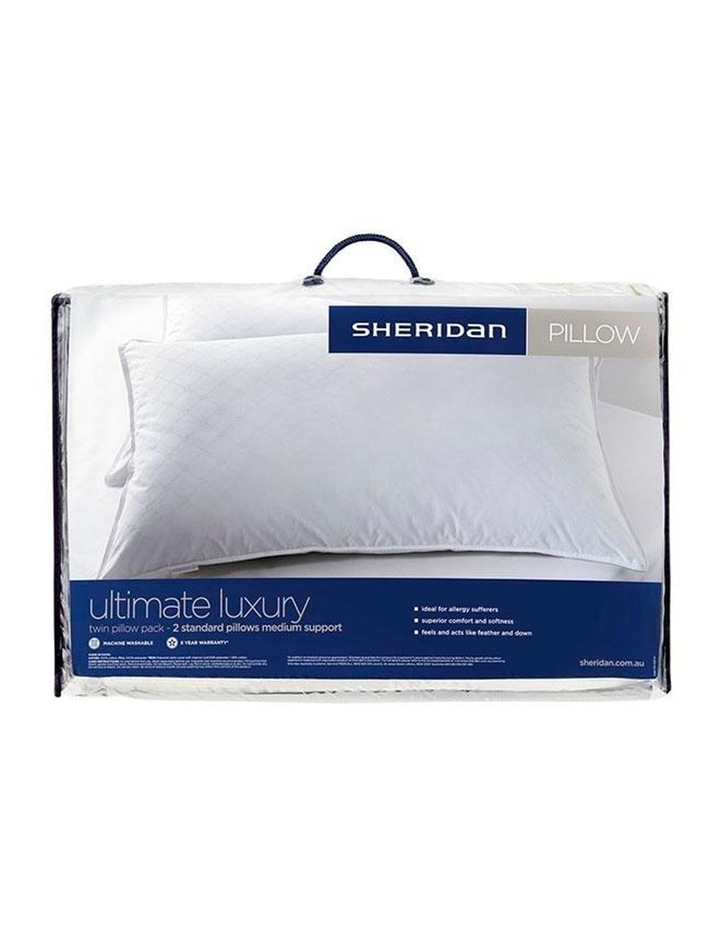 Ultimate Luxury Twin Pack Medium Pillows in White image 1