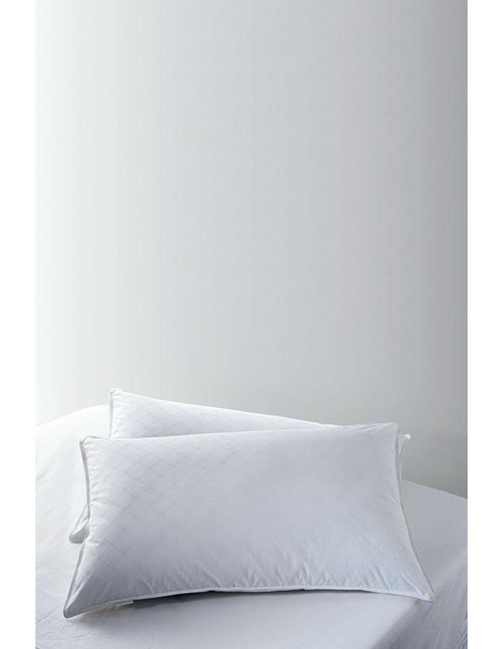 Ultimate Luxury Twin Pack Medium Pillows in White image 2