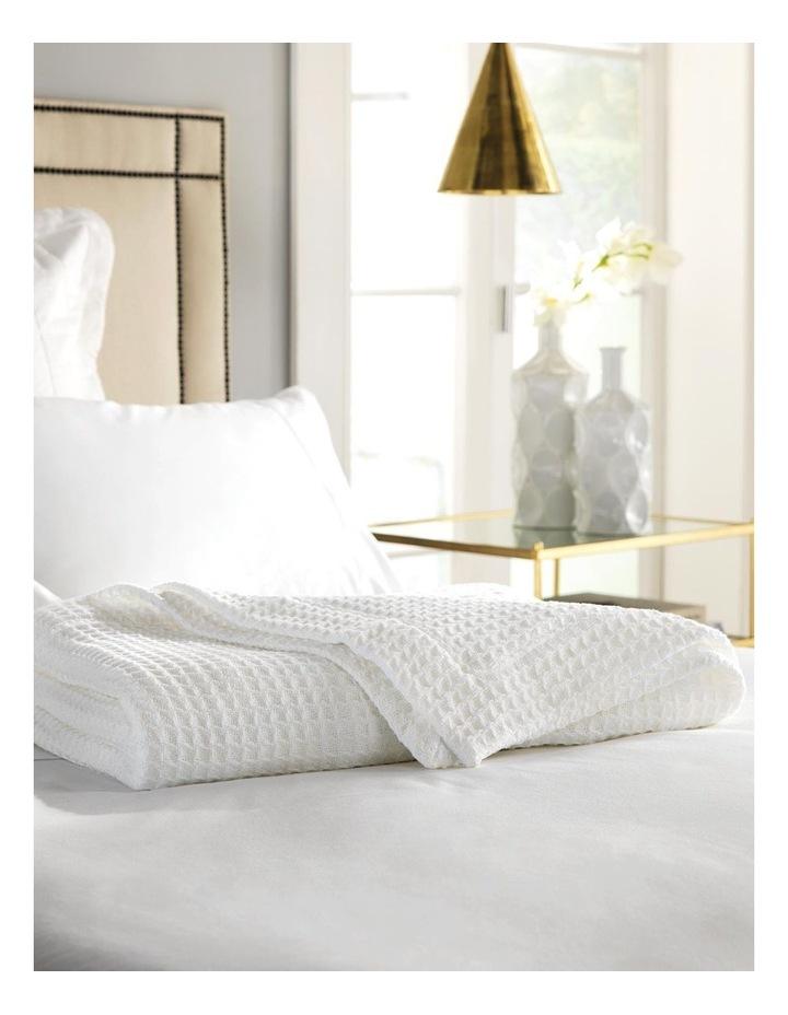 Ultrasoft Cotton Blanket in Snow image 1