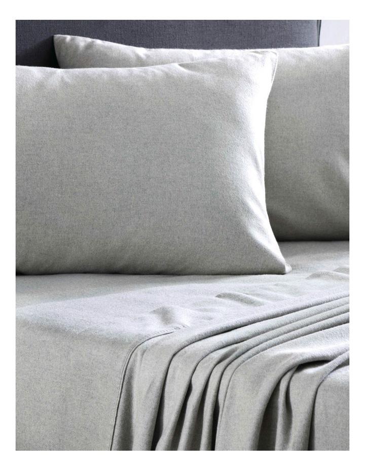 Delaware Flannelette Sheet Set in Grey Marl image 1
