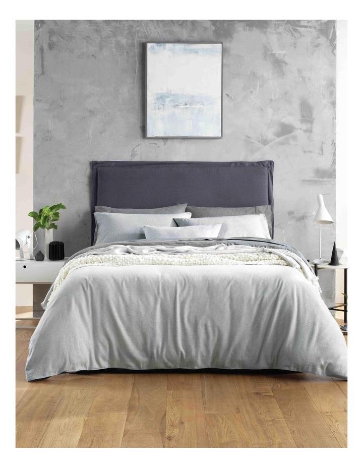Delaware Flannelette Sheet Set in Grey Marl image 2