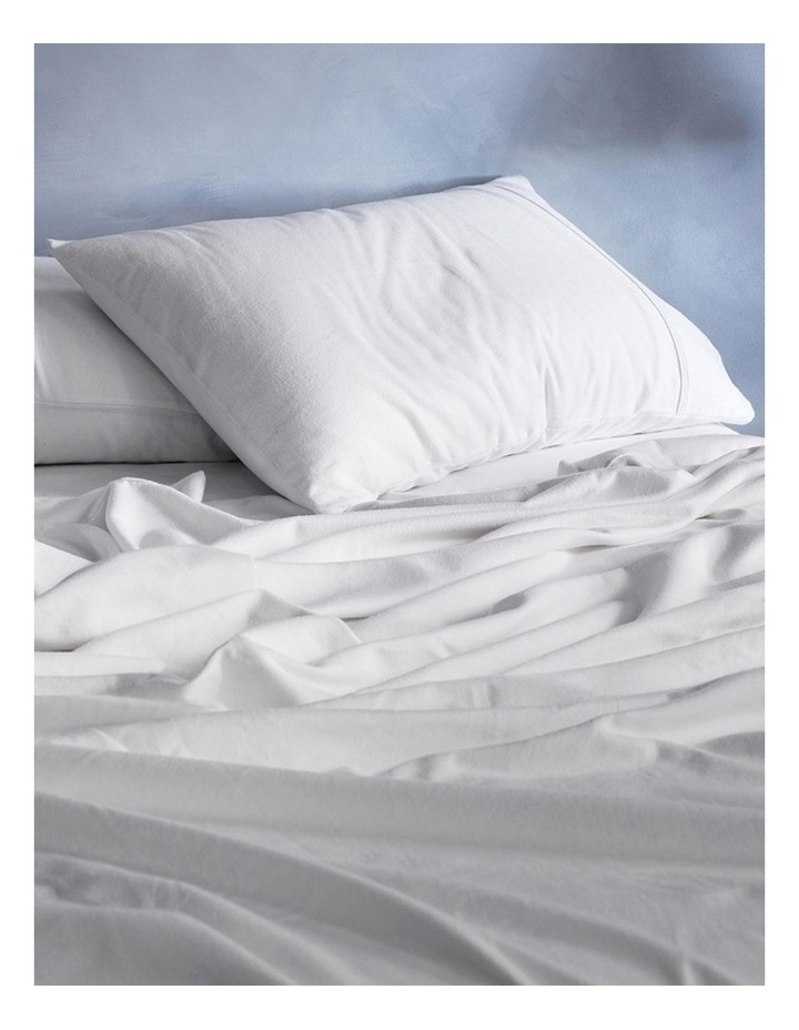Flannelette Plain Dyes Sheet Set in White image 1