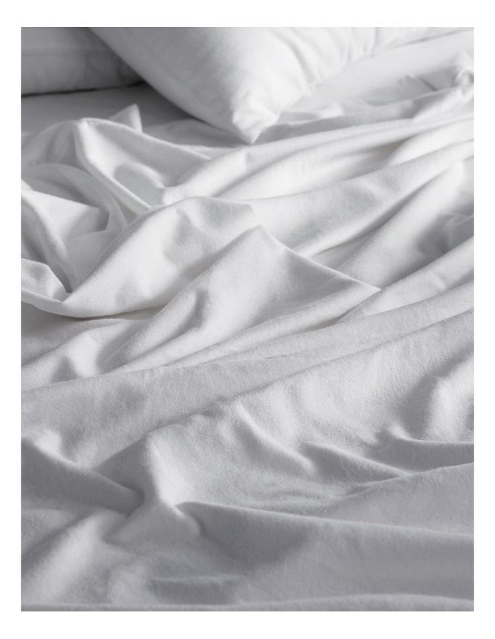 Flannelette Plain Dyes Sheet Set in White image 2