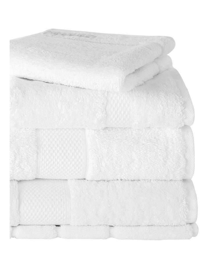Luxury Egyptian Towel Gift Set in Snow image 2
