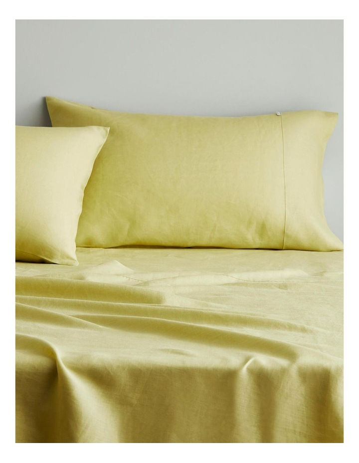 Abbotson Flat Sheet in Chartreuse image 2
