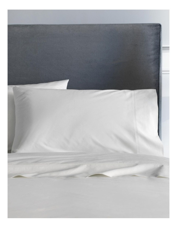 Egyptian Blend Sateen 600TC Fitted Sheet in Snow image 2