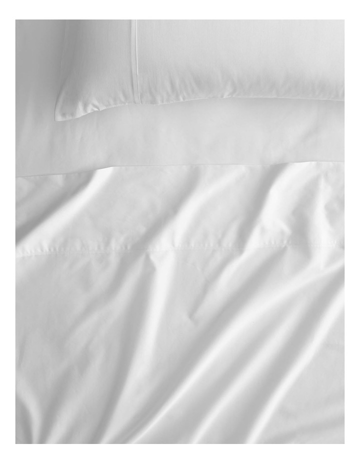 Egyptian Cotton Twill 500TC Fitted Sheet in Snow image 1