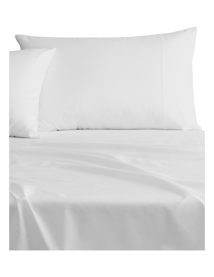 Egyptian Cotton Twill 500TC Fitted Sheet in Snow image 2
