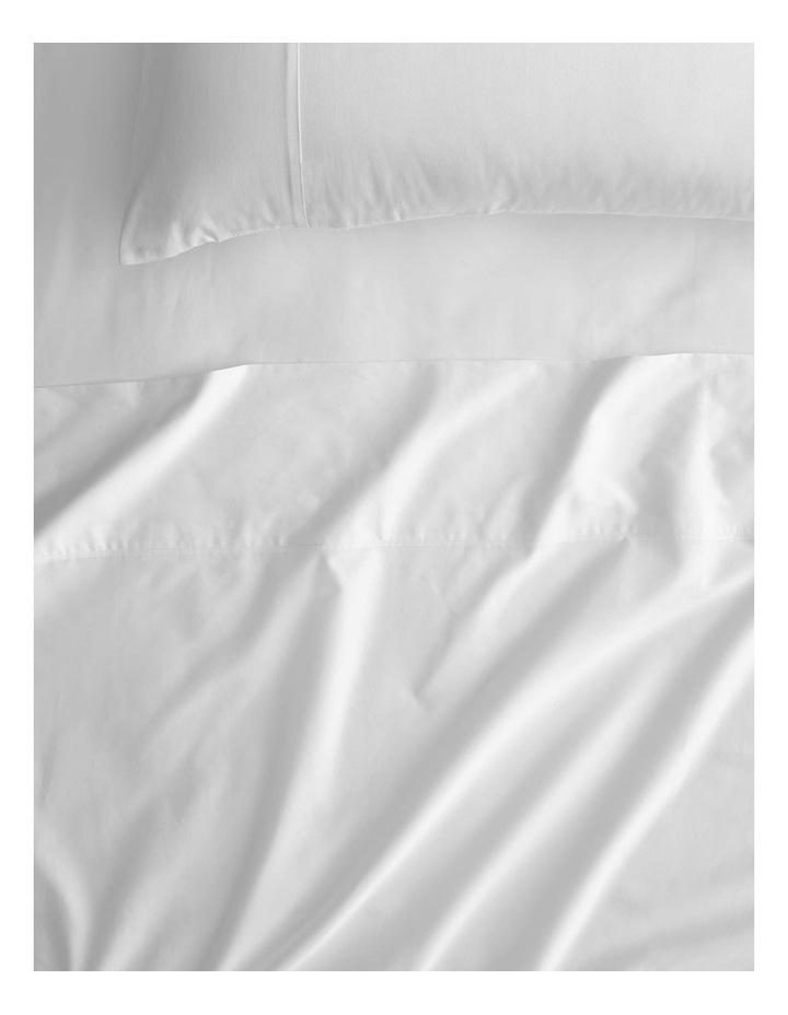 Egyptian Cotton Twill 500TC Sheet Set in Snow image 1