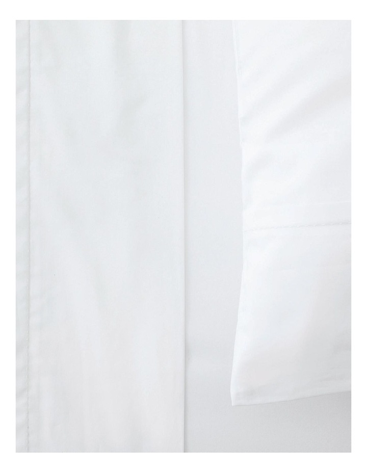 Organic Cotton Sateen 400TC Fitted Sheet in White image 2