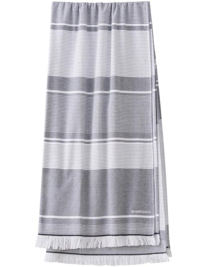 Summerville Beach Towel in Carbon image 1