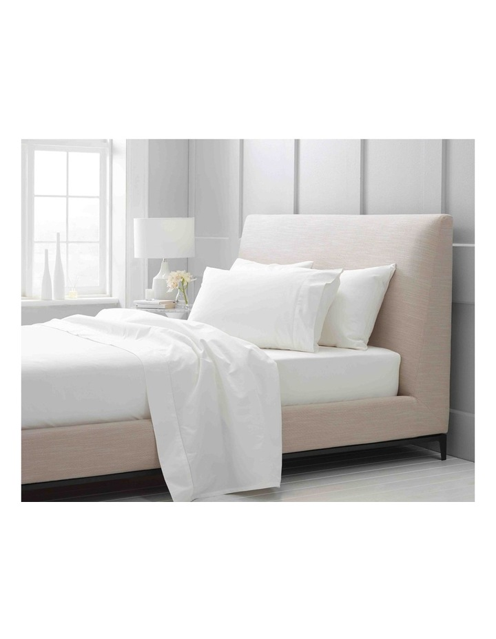 Hotel Weight Luxury 1000TC Fitted Sheet in Snow image 1