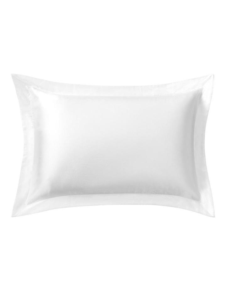 Lanham Silk Standard Pillowcase in Snow image 1