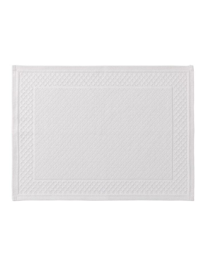 Newbery Bath Mat in White image 1