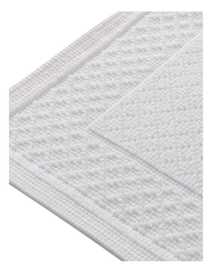 Newbery Bath Mat in White image 2