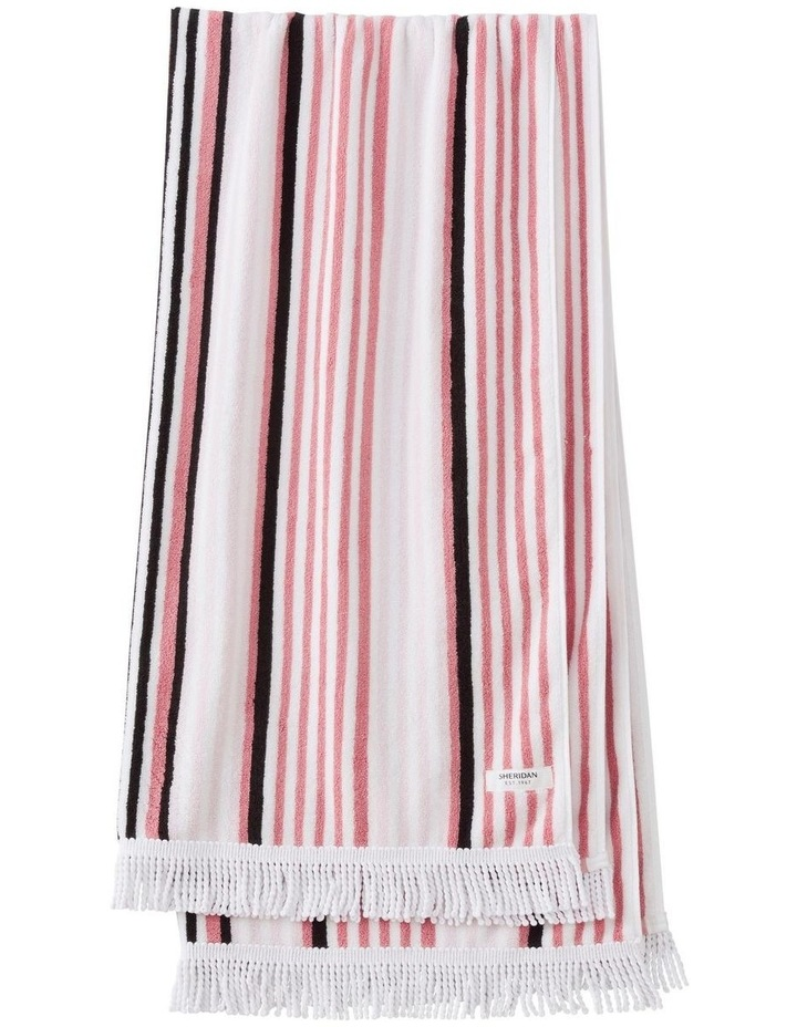 Portview Beach Towel in Rose image 1