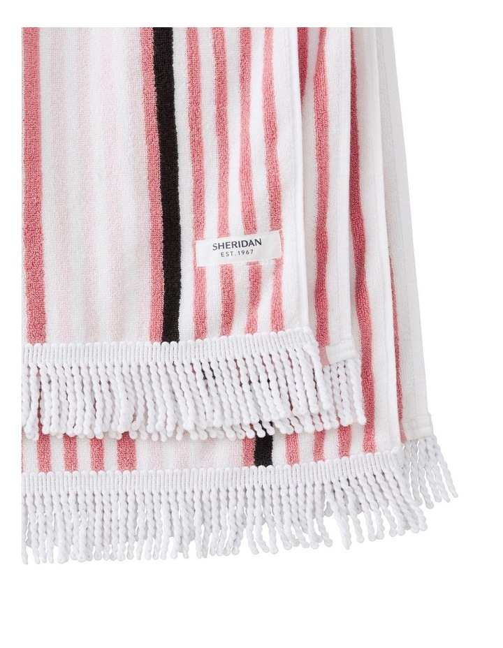 Portview Beach Towel in Rose image 2