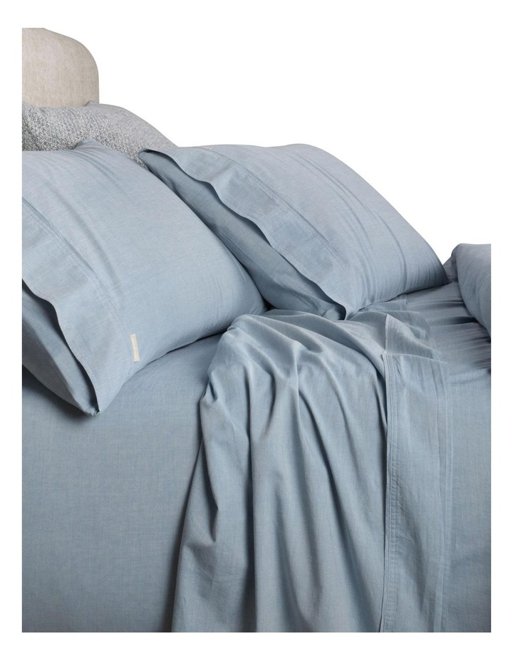 Reilly Fitted Sheet in Chambray image 2