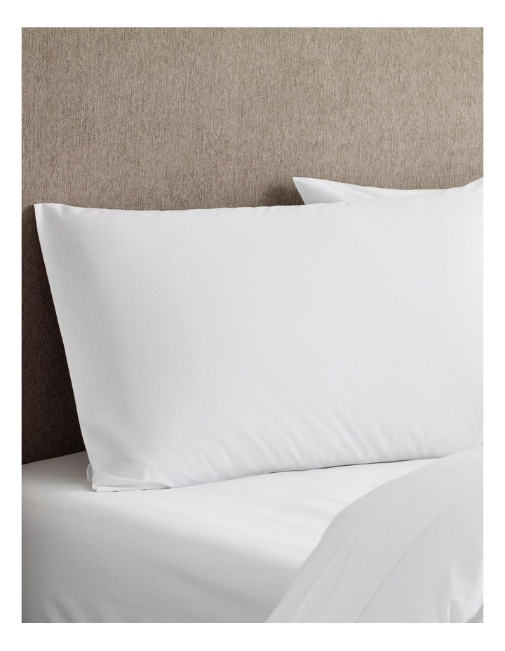 Tencel Lyocell Fibre & Cotton Sheet Set in White image 5