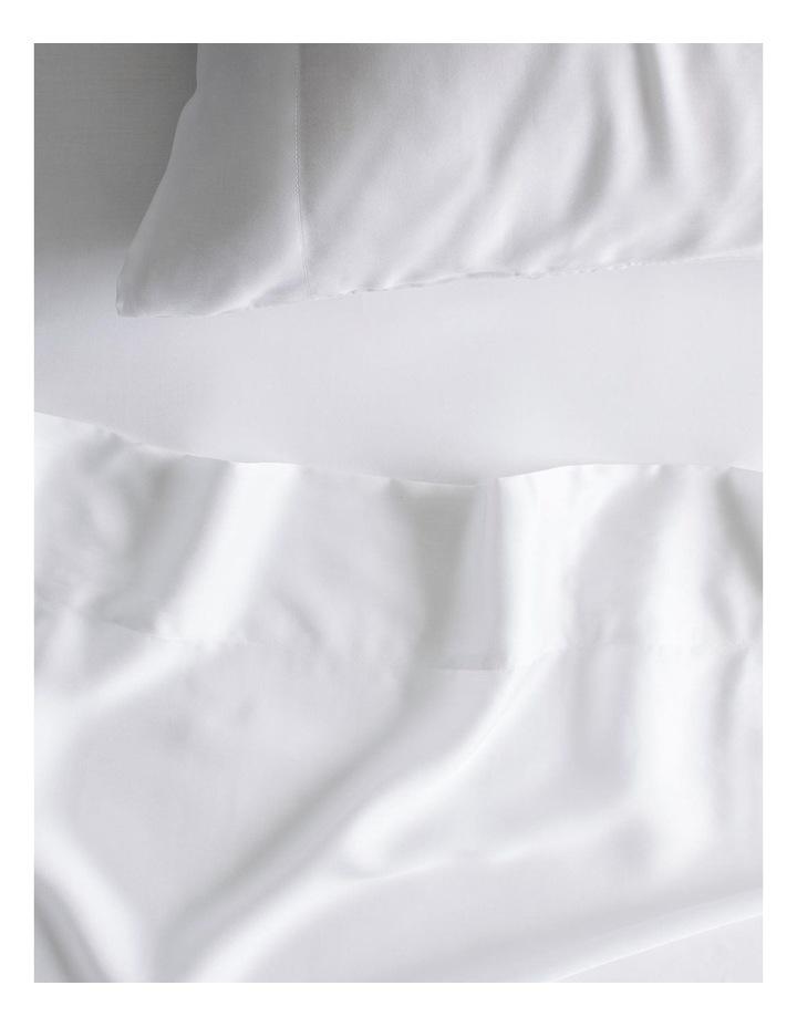 Tencel X Refibra Technology King Sheet Set in White image 1